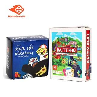 Combo Thẻ bài Ma sói Pikalong và Bài Tỷ Phú - BoardgameVN
