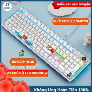 Bàn Phím Cơ Gaming Mẫu Mới K968 SUPER GAME 2021 Có 25 Chế Độ Led Đổi Màu Keycap Siêu Xịn, Tương Thích Máy Tính PC LAPTOP