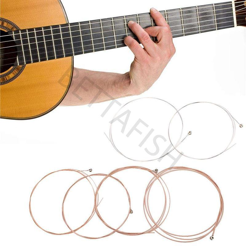 6pcs Acoustic Folk Guitar String Steel Core Instrument Accessories Set