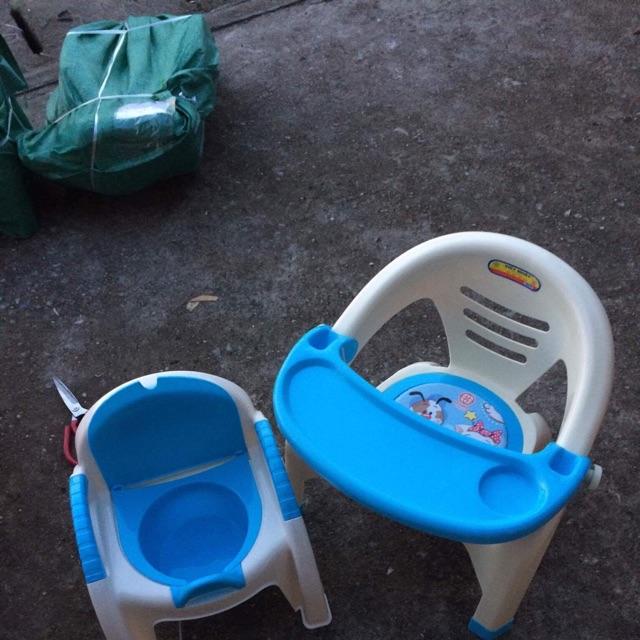 Sét ghế ăn dặm và ghế bô