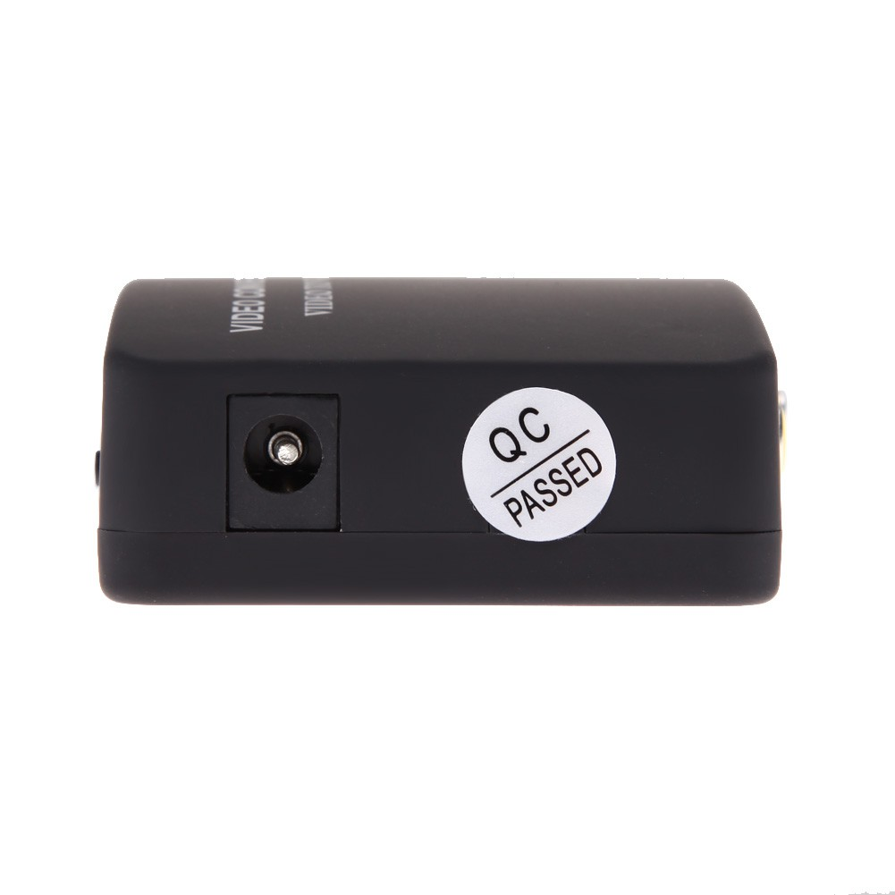 Yêu ThíchTV RCA Composite S-Video AV In to PC VGA Lcd Out Converter Adapter Box