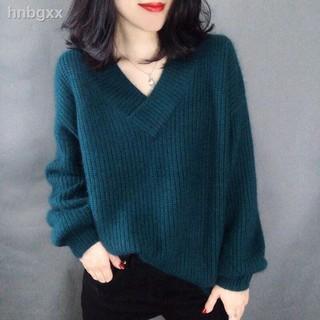 Áo Sweater Dáng Rộng Cổ Chữ V Xinh Xắn Theo Phong Cách Hàn Quốc 2020 Dành Cho Nữ