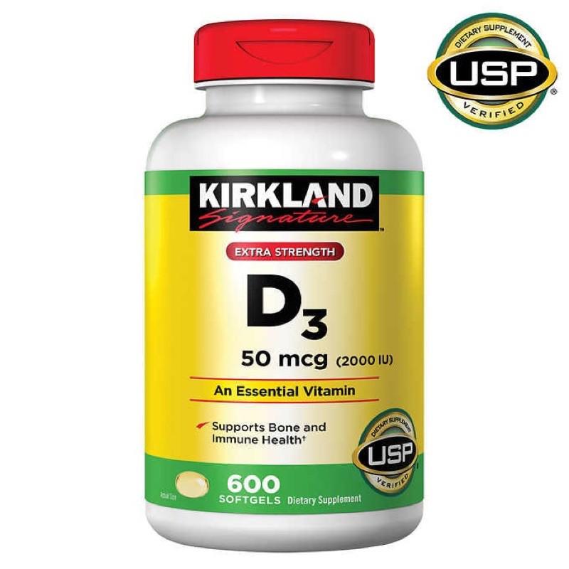 Vitamin D3 Kirkland Extra Strength D3 50mcg 2000iu