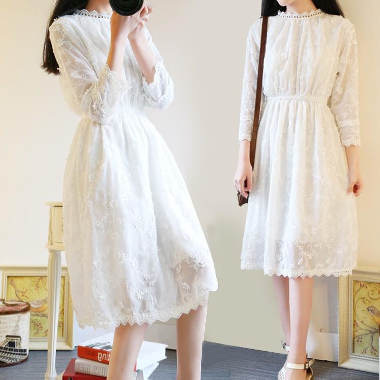 Váy trắng dài đính hoa - 3491819 , 1160232003 , 322_1160232003 , 350000 , Vay-trang-dai-dinh-hoa-322_1160232003 , shopee.vn , Váy trắng dài đính hoa