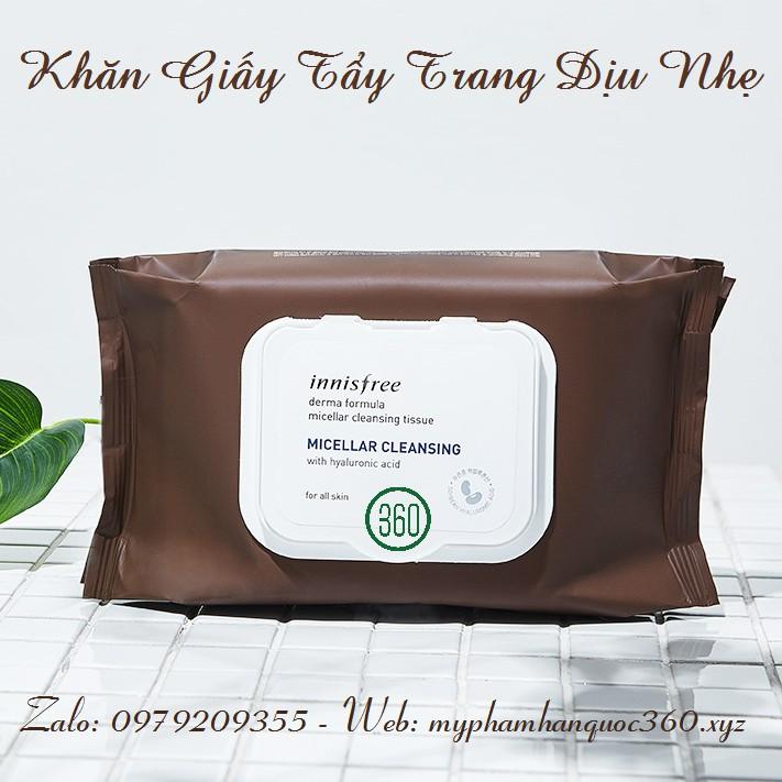 Khăn Giấy Tẩy Trang Innisfree Micellar Cleansing Tissue 30 miếng
