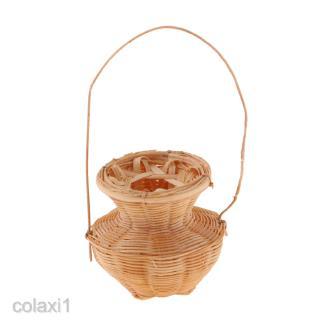 Dollhouse Miniature Wicker Basket For Fairy Garden Bamboo Baskets Handicraft