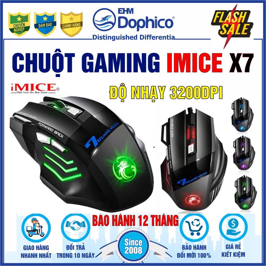 Chuột Gaming Imice X7 – Chính hãng – Knight of Darkness – Hiệp sĩ bóng đêm – Led đổi màu – Độ nhạy 3200 DPI