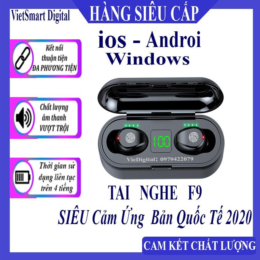 [F9] Tai Nghe Bluetooth, Tai Nghe Không Dây AMOI F9 TWS 5.0 9D, Cảm Ứng Chạm, Chống Nước, Chống Ồn