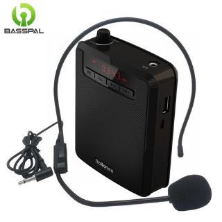 Loa Khuếch Đại Basspal K300 Loại Nhỏ Kèm Micro Và Cáp USB Hỗ Trợ Thẻ TF/Đài FM Cho Giáo Viên/Hướng Dẫn Viên