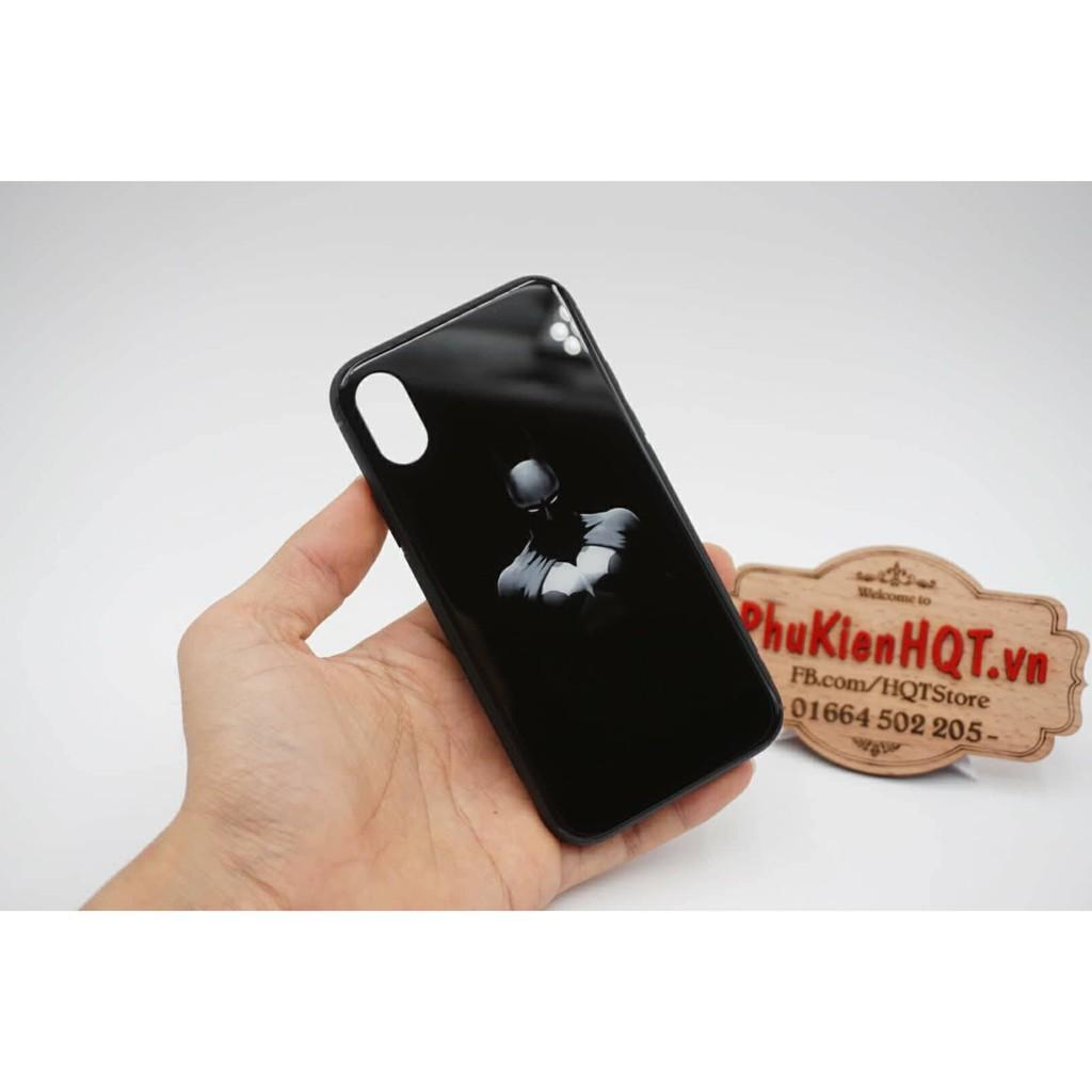 Ốp lưng kính 9H Batman cho Iphone X / 7 / 8