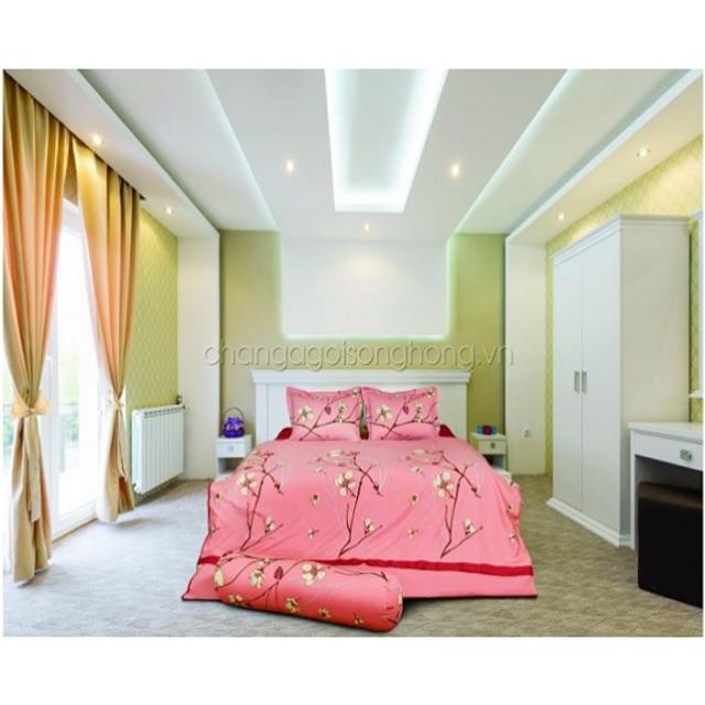 ? Ga chun Sông Hồng màu hồng điểm hoa trắng mã C17 C46 100% cotton hàng chính hãng vận chuyển toàn q