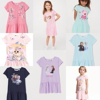 Váy bé gái 🧚Váy cotton HM cho bé gái Elsa chất cotton mềm mát siêu đẹp, size từ 2- 10Y