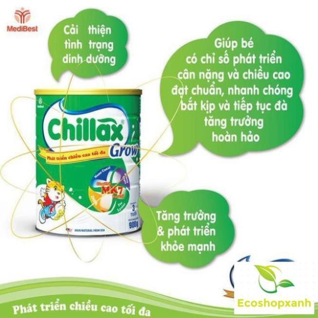 Combo 3 lon Sữa Chillax Grow MK7 900g Date 2022