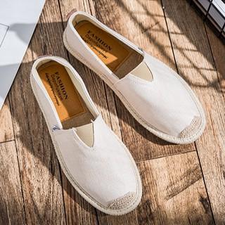 Slip on nam - Giày lười vải nam cao cấp - Vải bố màu trắng ngà, mũi cói - Mã SP 2905 thumbnail
