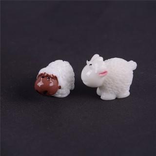 {MUV} 2pcs Sheep Garden Decoration Moss Miniature Terrarium DIY Accessories Dollhouose{LJ}