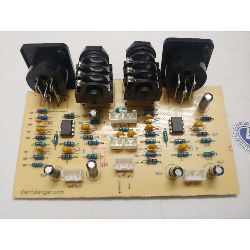mạch input đẩy 2 u mạch nâng tín hiệu main 2u