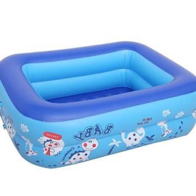 Bể bơi 1m2 ,2 tầng, 2 lop đáy