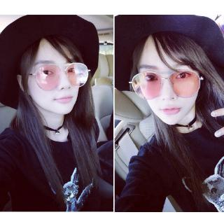 158e66565559 New Fashion Sunglasses Women Double Beam Round Sunglasses Men Clear lens  Vintage | Shopee Việt Nam