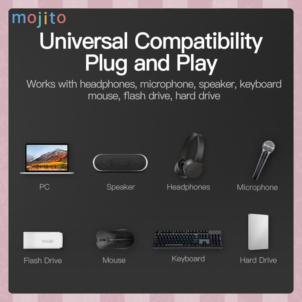 Bộ Chuyển Đổi Hub 4 Cổng Usb 3.0 5gbps Siêu Tốc Cho Laptop Pc