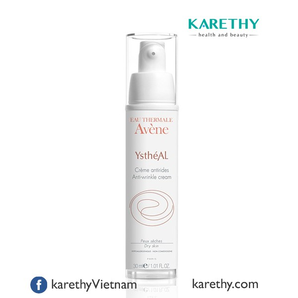 Avene Ystheal Cream: Kem Giảm Nếp Nhăn và Chống Lão Hóa cho Da Khô (30 ml)