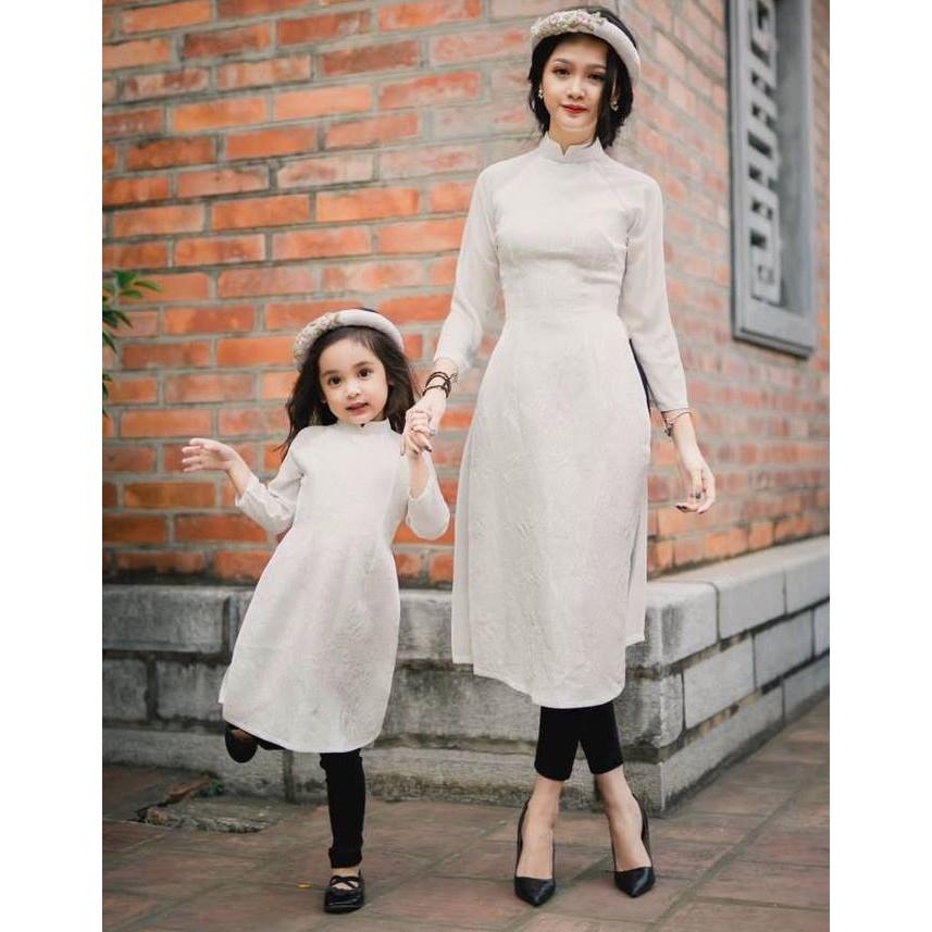 Mẹ & Bé - Set áo dài cách tân Mẹ và Bé (ko kèm quần & mấn) VMB13