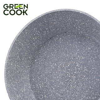 Hình ảnh Chảo đáy từ vân đá chống dính GREEN COOK 22 - 24 - 26 - 28 - 30 cm tay cầm chịu nhiệt - Hàng chính hãng-2