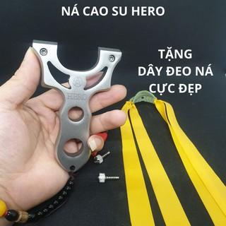 Ná Cao Su Hero, Ná Thun Inox 304 Chạc Kẹp + Tặng dây đeo ná + 2 bộ thun