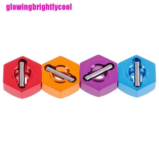 Gbvn 4Pcs Aluminum wheel hex nut 12MM with pins drive hubs HSP 1/10 Adore