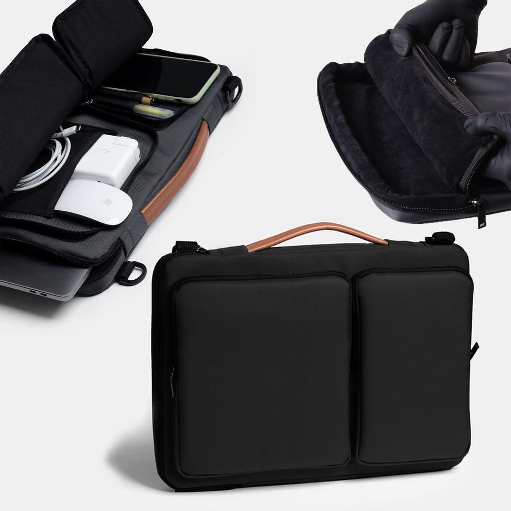CẶP XÁCH LAPTOP Túi Chống Sốc Laptop MACBOOK Công Sở Vải Chống Thấm Nước Unisex Nam Nữ