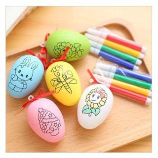 [Nhập mã TOYOCT giảm 10% tối đa 15K đơn từ 50K]Bộ đồ chơi trứng tô màu kèm 4 bút màu
