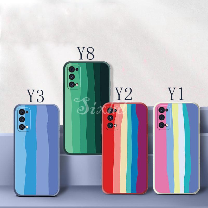 Ốp lưng điện thoại bằng TPU Silicone mềm hình cầu vồng dành cho Huawei Nova 8 7 6 SE 5T 5i 5 Pro