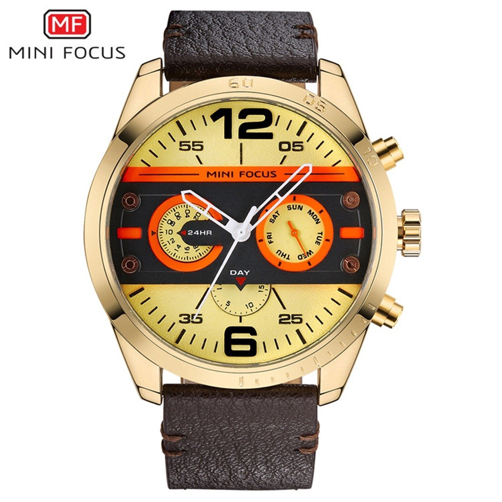 MINI FOCUS Sports Men Watches Fashion Military Waterproof Quartz Wristwatch