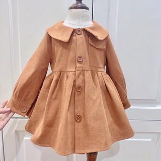 Váy tay phồng dễ thương, bé gái với bộ váy dài, váy công chú cho bé mùa hè-thu 2021