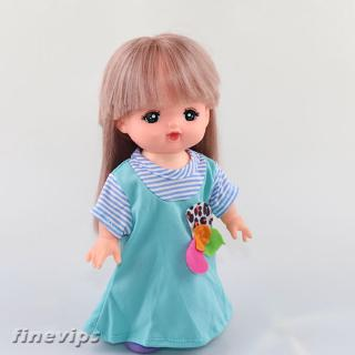 Adorable Blue Dress Clothes for MellChan Baby Dolls Complete Look Outfit