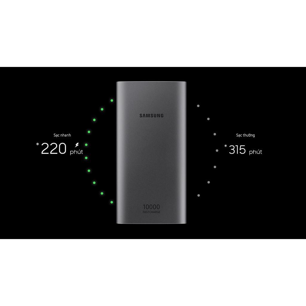 Sạc dự phòng Samsung Fast charger 10.000mAh Type-C Sạc nhanh AFC và Quick Charge 2.0, Pin sạc dự phòng 2 cổng sạc USB