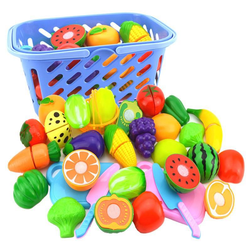 Bộ đồ chơi cắt hoa quả bằng nhựa cho bé
