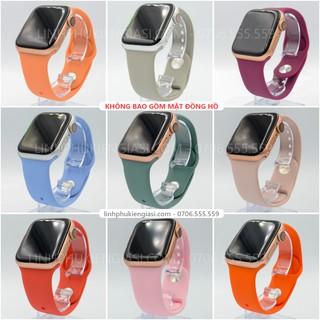 [Mã ELORDER5 giảm 10k đơn 20k] Dây đeo cao su thay thế cho đồng hồ apple watch nhiều màu, chống bẩn, cao cấp