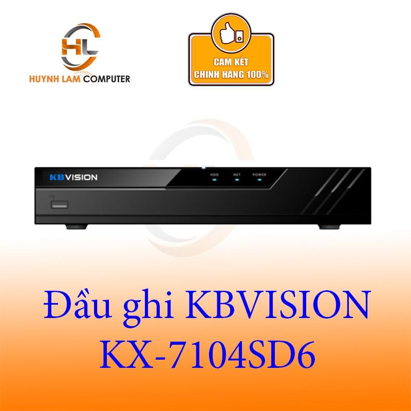 Đầu ghi KBVSION KX-7104SD6 4 kênh 5 in 1 - 4 kênh dành cho camera 1.0 ,1.3 và 2.0 Mp Hàng chính hãng