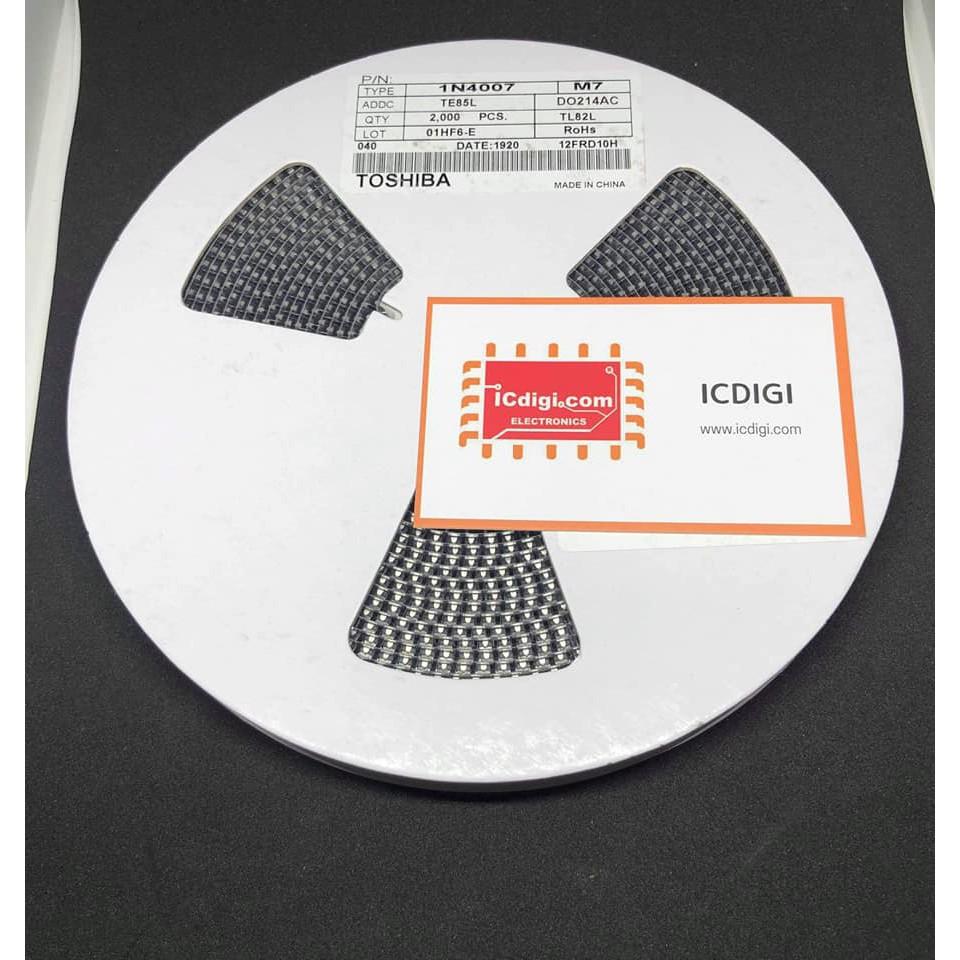 Diode M7 1N4007 Toshiba DO-214AC (cỡ SMA)
