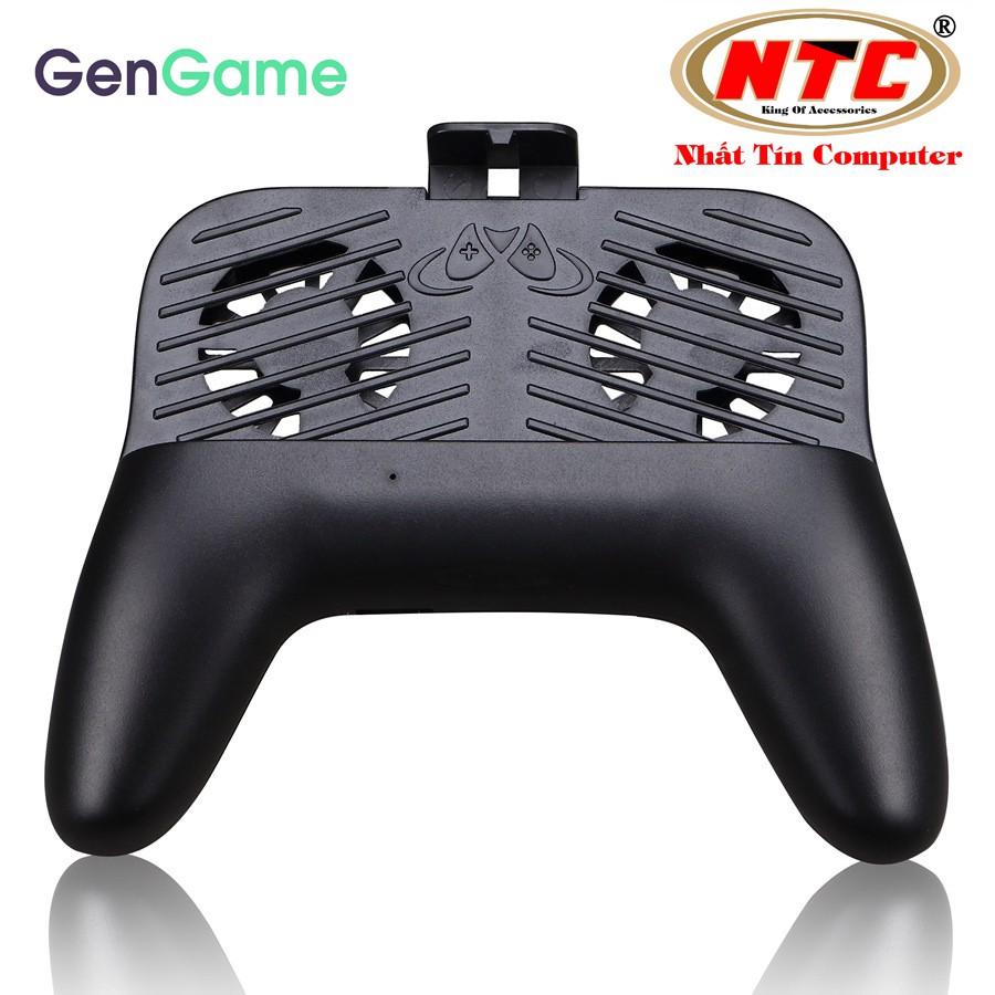 Tay cầm tản nhiệt dành cho điện thoại smartphone GenGame G2mini - kiêm sạc dự phòng và đèn pin (đen)