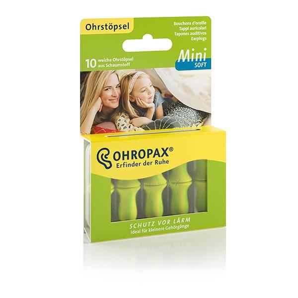 Hộp 10 nút bịt tai OHROPAX MINI SOFT size nhỏ xuất xứ từ Đức (Siêu mềm mại, nhỏ nhắn)