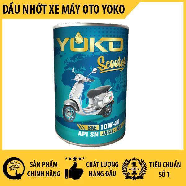 Dầu nhớt động cơ xe tay ga - Động cơ 4 thì - Yoko Scooter ( 1000ml )
