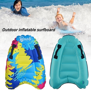 Ready Stock Inflatable Surf Body Board with Handles Lightweight Swimming Floating Surfboard Aid Mat Learn to Swim Beach Safety @vn