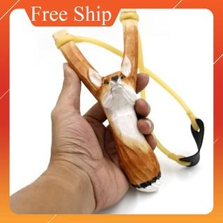 GIAM GIÁ SỐC FREESHIP ĐƠN 99K_(Chạc 8.5) Ná gỗ 1 dây tròn hình thú (Hình con cáo) – ná mẫu #66 HANG MOI VE