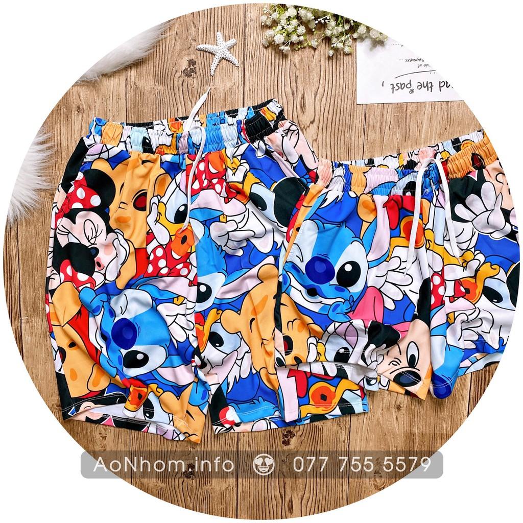 Quần Thun đi biển - Chuột Mickey