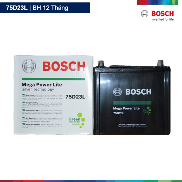 Ắc quy khô Bosch Mega power lite 75D23L 12V-65Ah