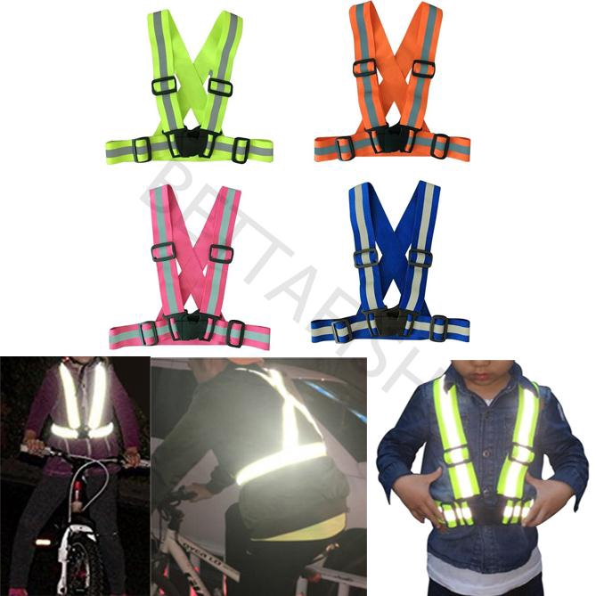 Children Motorcycle Running Cycling Safety Adjustable Reflective Vest Jacket