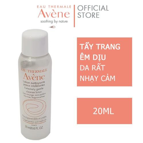 Lotion làm sạch và tẩy trang cho da nhạy cảm avène extremely gentle cleanser 20ml