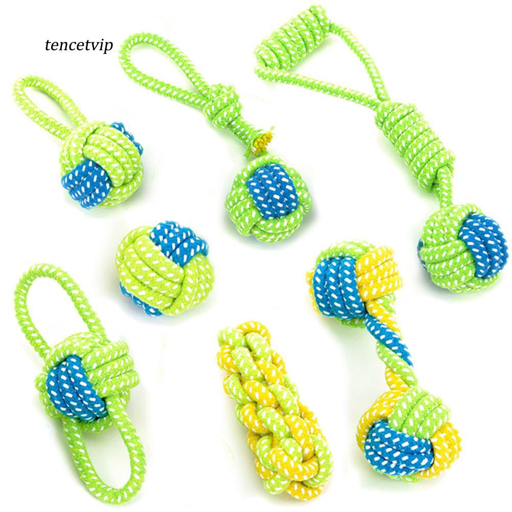 〖Vip〗Puppy Medium Dog Chew Teething Cotton Rope Knot Ball Playing Teeth Cleaning Toy