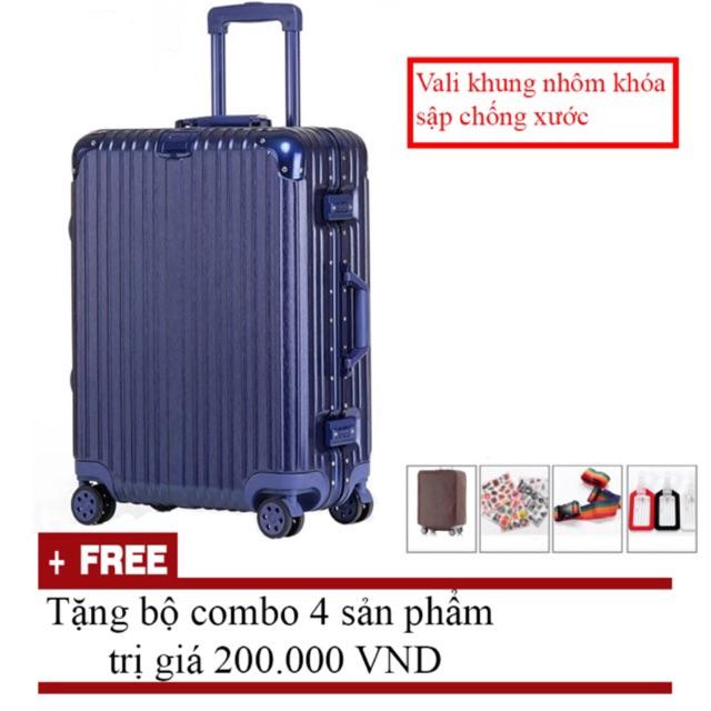 COMBO 2 vali size 20, 26 màu xanh